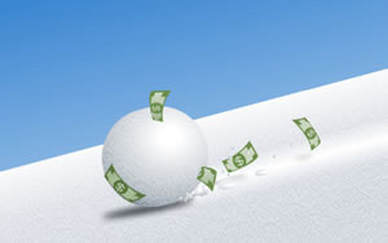 Snowballing debt to build wealth